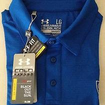 Nwt Blue Under Armour Coldblack Loose Heat Gear Golf Club Polo Shirt Large Lg Photo