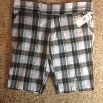 Nwt Blue & White Plaid  Roxy Size 11 Shorts Womens. Ked Photo