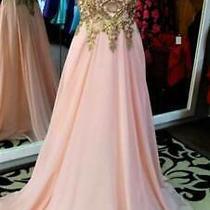 Nwt Blush Pink Gold Embroidered Embellished Cruise Bridesmaid Dress Sizes Xs S Photo