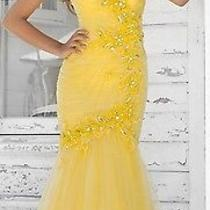 Nwt Blush Prom 338 Yellow Formal Prom Evening Gown 10 Photo