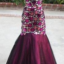 Nwt Blush Prom 398 Black Berry Formal Prom Ball Gown 4 Photo