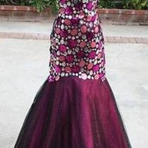 Nwt Blush Prom 398 Black Berry Prom Evening Gown 6 Photo