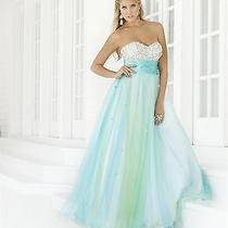 Nwt Blush Prom 5117 Pool Blue Size 4 Jeweled Ball Gown Prom Quinceanera Gown Photo