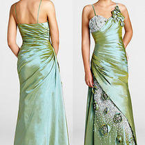 Nwt Blush Prom 9256 Olive Green 338 Formal Prom Gown 0 Photo
