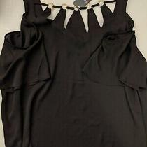 Nwt Bold Elements Size 1x Black Cold Shoulder Top  Photo