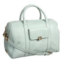 Nwt Botkier Adele Leather Satchel Mint Green Aqua Cornflower Handbag Crossbody Photo