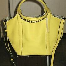 Nwt Botkier Yellow Leather Whip Stitched Handle Tote/crossbody Bag Photo