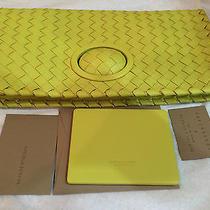 Nwt Bottega Veneta Full-Flap Intrecciato Turnlock Clutch Bag Sold Out 1750 Photo