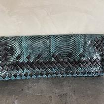 Nwt Bottega Veneta Teal Skin Clutch From Elyse Walker Photo