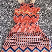 Nwt Boutique Vintage Havana Braided Strap Tribal Print Dress Sizes 4 or 5 Photo