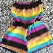 Nwt Boutique Vintage Havana Striped Chiffon Romper Sizes 5 or 6 Photo