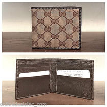 Nwt & Box Authentic Gucci Gg Crystal Men's Wallet Photo