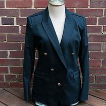 Nwt Boy by Band of Outsiders Navy Gold Button Double Breasted Jacket Blazer 2 4 Photo
