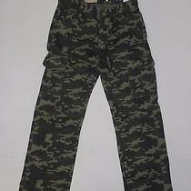 Nwt Boy's Levi's 505 Regular Fit Cargo Pants Camouflage Green Size 7 Reg  Photo