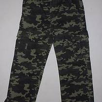 Nwt Boy's Levi's 505 Regular Fit Cargo Pants Camouflage Green Size 12 Reg  Photo