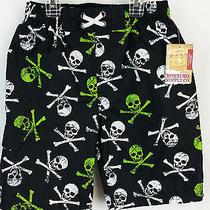 Nwt Boy's Mossimo Swim Shorts Skulls Multi-Color Waist 22