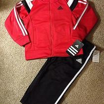 Nwt Boys Adidas  Baby Set Baby Boy Track Suit  Size 18 Months Photo