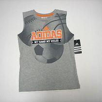 Nwt Boys Adidas My Game My Rules Soccer Basketball Baseball Shirt Sz 6 Photo