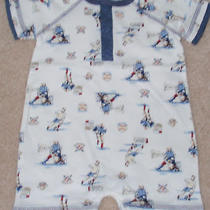 Nwt Boys Bloomie's Baby White Romper Size 3 Months Photo