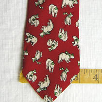 Nwt Boys Gap Red Grey Gray Green Bear Hat Scarf Silk Neck Tie Photo