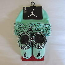 Nwt Boys Nike Air Jordan Hat & Booties Set Baby Jumpman Infant Size 0-6 Months Photo