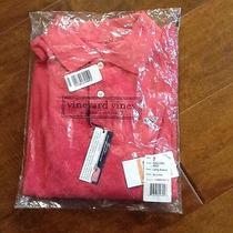 Nwt Boys Vineyard Vines Size 7 Cotton Long Sleeve Polo Top Shirt Sailors Red Photo