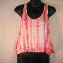 Nwt Bozzolo Red White Cropped Small Tie Dye Tank Ruffle Small Urban Outfitters Photo