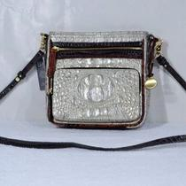 Nwt Brahmin Cleo Mother of Pearl Tri-Color Leather Crossbody Swingpack  Photo