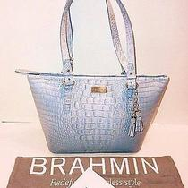 Nwt Brahmin Medium Asher Chambray Croc Embossed Leather Tote Shoulder Bag 255 Photo