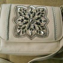Nwt Brighton Anju Off White Embellished Small Shoulder Crossbody Handbag Photo