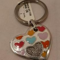 Nwt Brighton Bonbon Heart With Swarovski Crystals Key Chain Ring Fob E14640  Photo