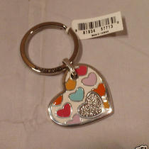 Nwt Brighton Bonbon Heart  Wiyh Swarovski Crystals Key Chain Ring E14640 Photo