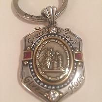 Nwt Brighton Devotion Crest Fob Key Chain Pendant Swarovski Crystals Ruby Photo