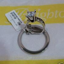 Nwt Brighton Diamond Engagement Ring Key Chain Ring Fob E14110  Photo