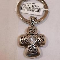 Nwt Brighton Divinity Cross With Crystal Heart Key Ring Chain Fob E14330 Photo