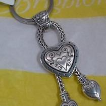 Nwt Brighton Eliza Silver Plated Key Chain Ring Fob E11360  Photo