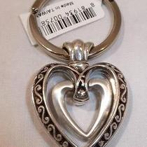 Nwt Brighton Ellington Heart Silver Plated Key Chain Ring Fob E11380 Photo