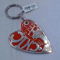 Nwt Brighton Fashionista Diva Silver Plated Heart Key Chain Ring Fob E14910  Photo