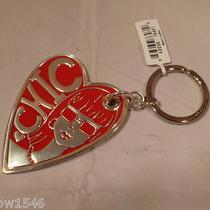 Nwt Brighton Fashionista Diva Silver Plated Heart Key Chain Ring E14910 Photo