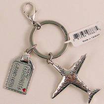 Nwt Brighton Fashionista First Class Key Fob Travel Key Ring Clip Silver Photo