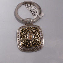 Nwt Brighton Gala With Crystals Silver Plated Fob Chain Ring E15310 Photo