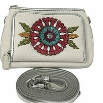 Nwt Brighton Garden Girl Medium Leather Wallet White W Multi Applique 115 Photo