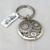 Nwt Brighton Gilly Flower Silver Plated Key Chain Ring Fob E14840  Photo