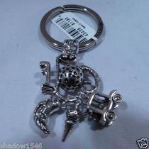 Nwt Brighton Golf Silver Plated Key Fob Chain Ring E15100 Photo
