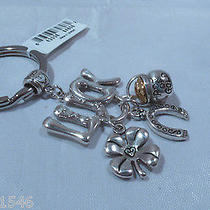 Nwt Brighton Good Luck Silver Plated Key Fob Chain Ring E15170 Photo