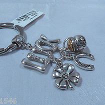 Nwt Brighton Good Luck Silver Plated Key Fob Chain Ring E15170 Photo