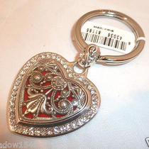 Nwt Brighton Heart Song Silver Plated Key Fob Chain Ring E15150 Photo