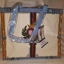 Nwt  Brighton 'In Love We Trust' Canvas Tote Bag New 125   6.5