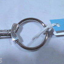Nwt Brighton Keylove Silver Plated Fob Chain Ring E14170 Photo