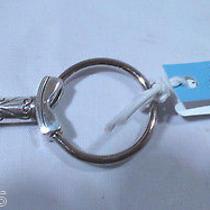 Nwt Brighton Keylove Silver Plated Fob Chain Ring E14170 Photo